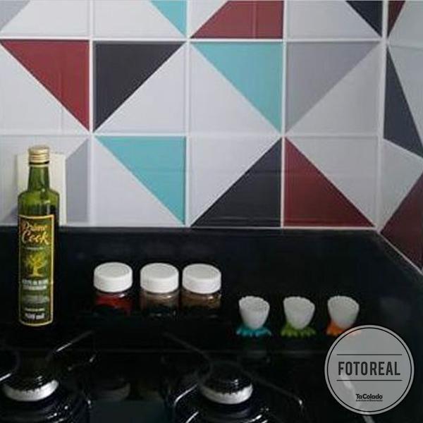 Imagem de Papel de Parede Azulejo para Cozinha Retângulo - Várias Cores