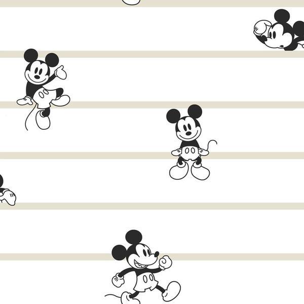 Imagem de Papel de Parede Disney Mickey Listrado  DI0932 A