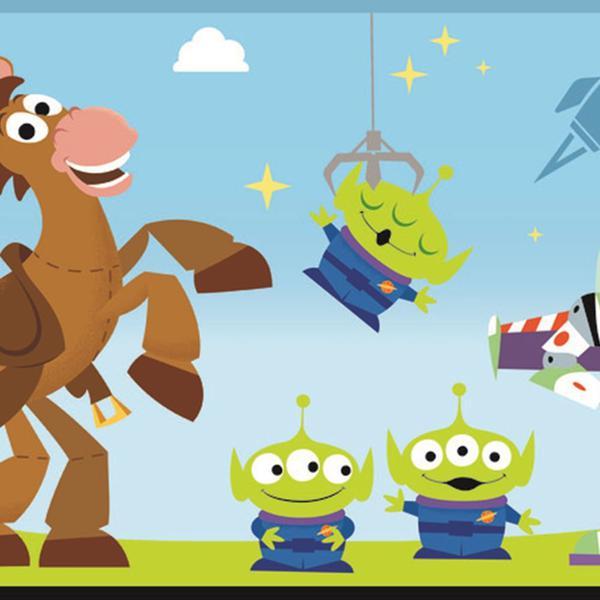 Imagem de Papel de Parede Disney Toy Story Azul DI1018BD D