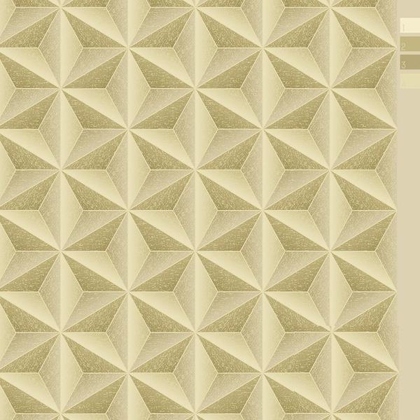 Imagem de Papel de Parede Importado Estrela Dourado Com 10m Durável
