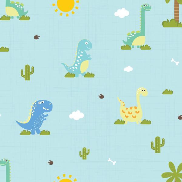 Imagem de Papel de Parede Infantil Dinossauro Baby 2,70x0,57m