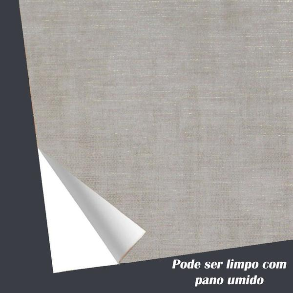 Imagem de Papel De Parede Sala Rolo Cinza Claro Rústico 10 Metros