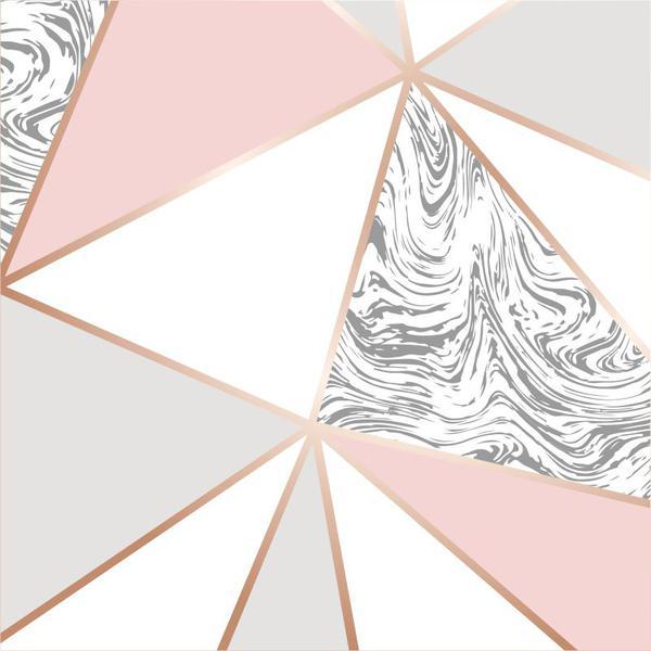 Imagem de Papel de Parede Zara Mármore Rose Gold