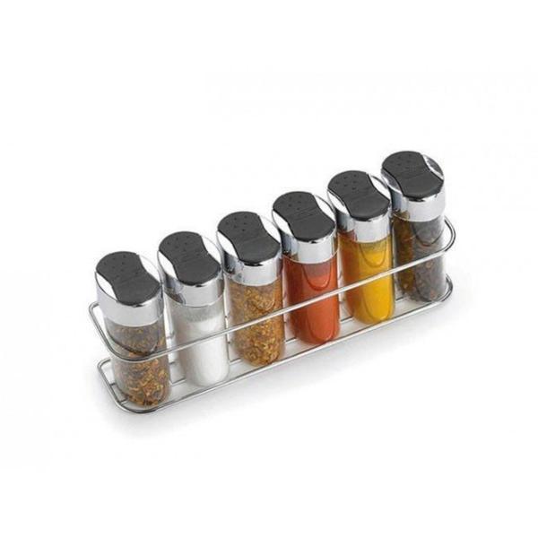 Imagem de Porta condimentos e temperos de parede 6 potes - Arthi