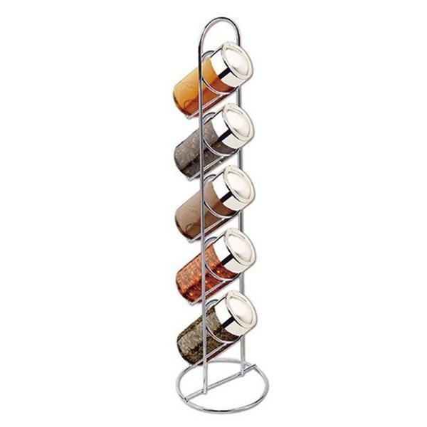 Imagem de Porta Temperos Com 5 Potes Para Condimentos E Suporte Vertical Art House BS 1487