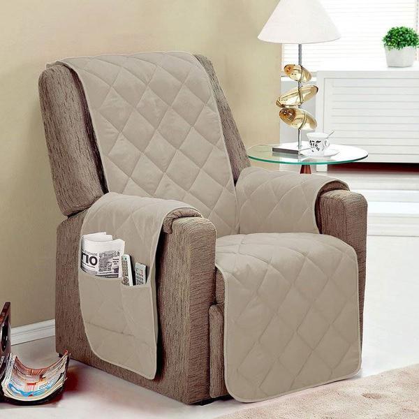 Imagem de Protetor de sofá 1 lugar face unico confort castor