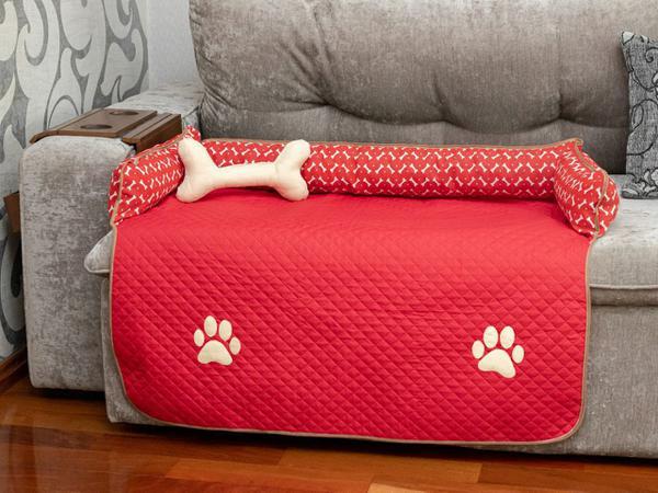Imagem de Protetor de Sofá Pet Impermeavel Meg Grande Vermelho