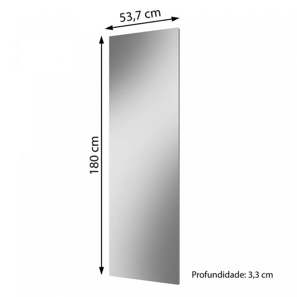 Imagem de Quadro de Espelho 180cm Flora Yescasa Branco