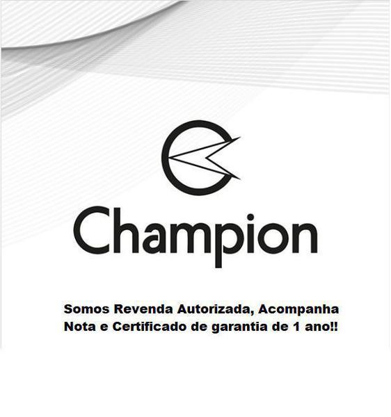 Imagem de Relogio Digital Feminino Champion Dourado Quadrado + Kit Colar e Brincos