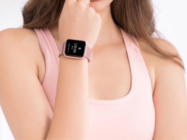Imagem de Relógio Smart Watch Feminino Oled P70 + Duas Pulseiras Rose