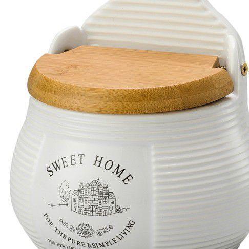 Imagem de Saleiro para Parede Cerâmica com Tampa de Madeira Sweet Home