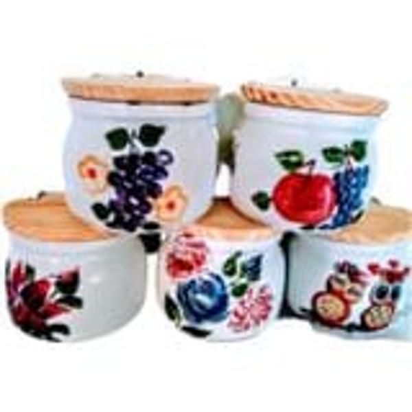 Imagem de Saleiro parede 1 kg decorado artesanal aleatório bichos,flores e frutas