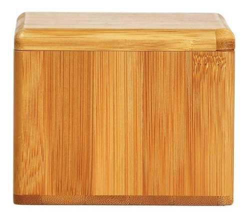 Imagem de Saleiro Porta Sal Com Tampa Giratória Em Bambu Welf