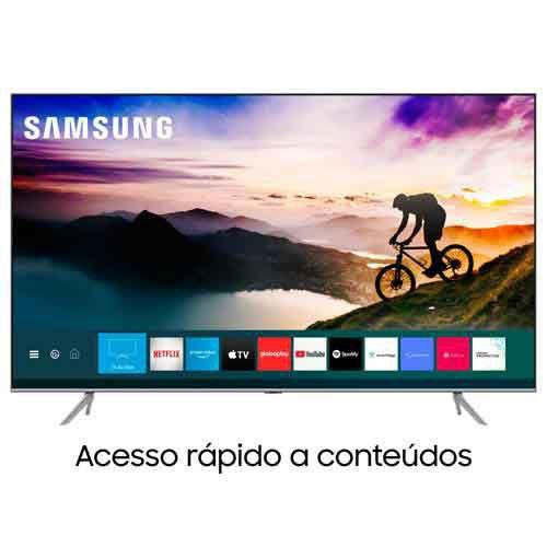 "Imagem de Samsung Smart TV QLED 4K Q70T 85"", Pontos Quânticos, HDR, Borda Infinita, Alexa built in, Modo Ambiente 3.0"