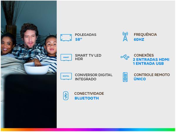 "Imagem de Smart TV 4K Crystal UHD 58"" Samsung UN58TU7020GXZD"