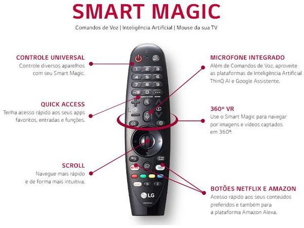 "Imagem de Smart TV 4K LED 60"" LG 60UN7310PSA Wi-Fi Bluetooth - HDR Inteligência Artificial 3 HDMI 2 USB"