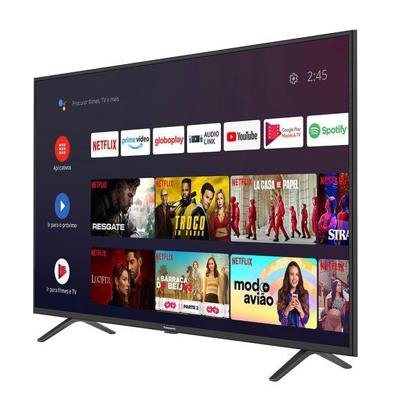 Imagem de Smart TV Android 55'' LED 4K UHD Panasonic TC-55HX550B 3 HDMI 2 USB Bluetooth
