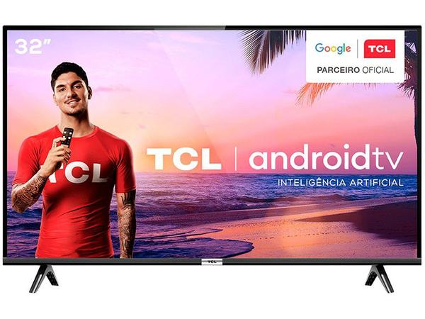 "Imagem de Smart TV LED 32"" TCL 32S6500S Android Wi-Fi - HDR Inteligência Artificial 2 HDMI USB"