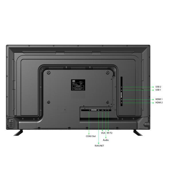 "Imagem de Smart TV LED 43"" HQ HQSTV43NY Ultra HD 4K Netflix Youtube 2 HDMI 2 USB Wi-Fi"