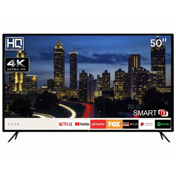 "Imagem de Smart TV LED 50"" HQ HQSTV50NY Ultra HD 4K Netflix Youtube 3 HDMI 2 USB Wi-Fi"