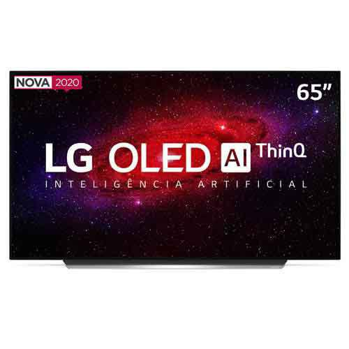 "Imagem de Smart TV LG 65"" 4K OLED65CX HDR WiFi Bluetooth Inteligência Artificial ThinQAI Smart Magic Google Alexa"