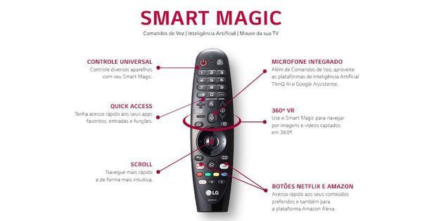 Imagem de Smart TV OLED 65'' 4K LG WiFi Bluetooth HDR Inteligência Artificial ThinQ AI Smart Magic Google Assistente Alexa-OLED65CXPSA