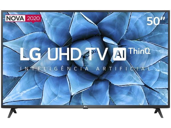 "Imagem de Smart TV UHD 4K LED 50"" LG 50UN7310PSC Wi-Fi - Bluetooth Inteligência Artificial 3 HDMI 2 USB"