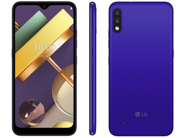 """Imagem de Smartphone LG K22 32GB Blue 4G Quad-Core 2GB RAM - Tela 6,2"""" Câm. Dupla + Selfie 5MP Dual Chip"""