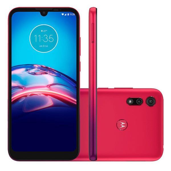 """Imagem de Smartphone Motorola Moto E6S 64GB 4GB Tela 6.1"""" Câmera Dupla 13MP 2MP Frontal 5MP Vermelho Magenta"""