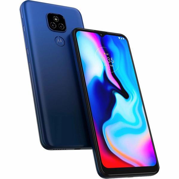 """Imagem de Smartphone Motorola Moto E7 Plus 64GB 4G Tela 6.5"""" Câmera Dupla 48MP 2MP Frontal 8MP Azul Navy"""