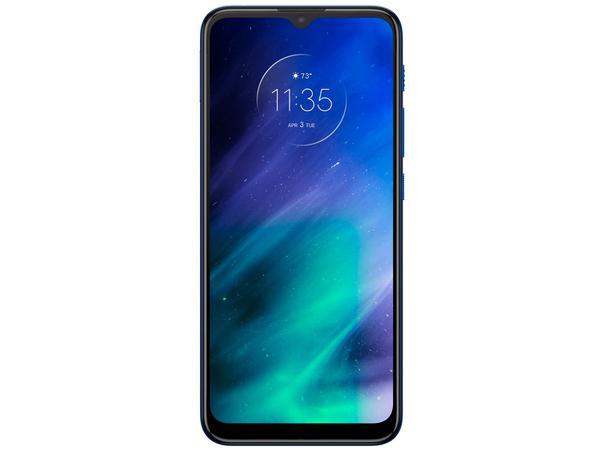 """Imagem de Smartphone Motorola One Fusion 128GB Azul Safira - 4GB RAM Tela 6,5"""" Câm. Quádrupla + Selfie 8MP"""