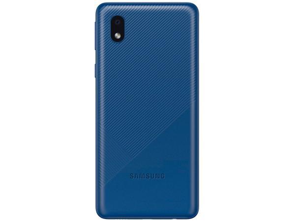 Imagem de Smartphone Samsung Galaxy A01 Core 32GB Azul - Processador Quad-Core 2GB RAM Câm.8MP + Selfie 5MP