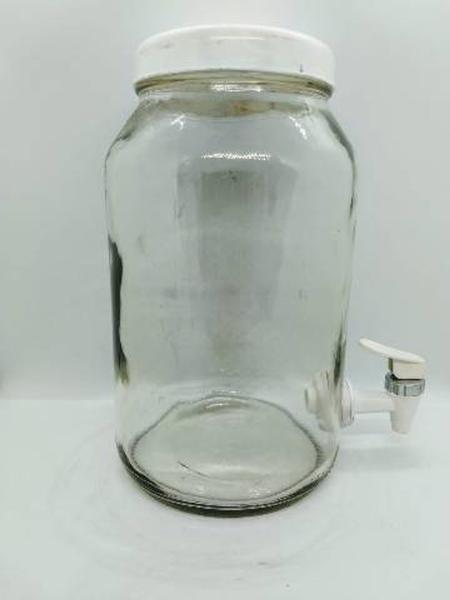 Imagem de Suqueira de vidro cap/3 litros (BRANCA com cromado))
