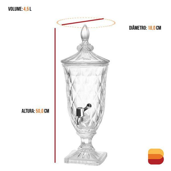 Imagem de Suqueira Diamond Dispenser de Bebidas 4,5 Litros