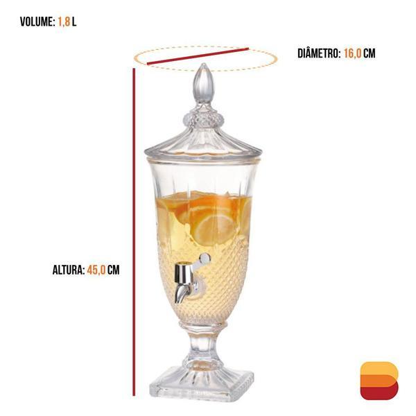 Imagem de Suqueira Emerald Dispenser de Bebidas 1,8 Litros