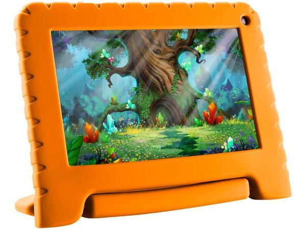 "Imagem de Tablet Infantil Multilaser Kid Pad Go com Capa - 16GB 7"" Wi-Fi Android 8.1 Quad-Core"