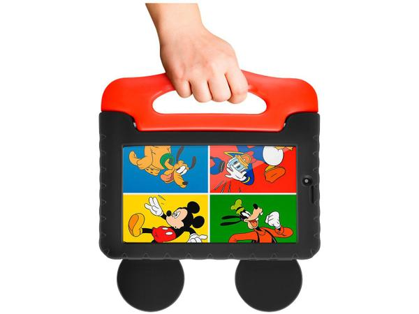 "Imagem de Tablet Infantil Multilaser Mickey Plus com Capa - 16GB 7"" Wi-Fi Android 8.1 Quad Core Câm. 2MP"