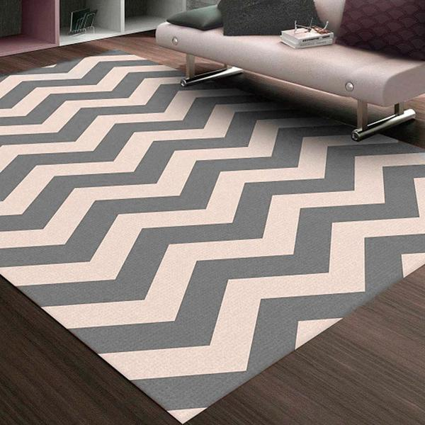 Imagem de Tapete Chevrom para Sala ou Quarto Antiderrapante Sua Casa Moderna Casa Dona