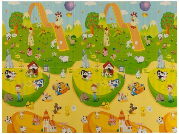 Imagem de Tapete Infantil Fazendinha para Quarto Retangular