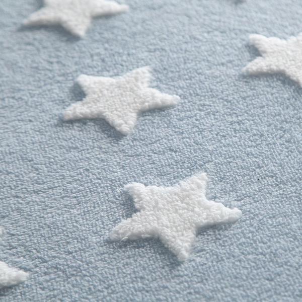 Imagem de Tapete Infantil Jolitex Mimo Estrelas Azul Redondo Antiderrapante