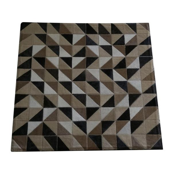Imagem de Tapete Kromática costurado branco, bege, marrom e preto 1,00x1,00 m