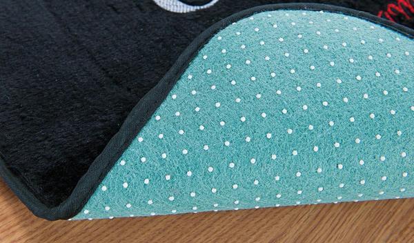 Imagem de Tapete Passadeira Urso Bola Azul Turquesa Antiderrapante 120 X 74 cm