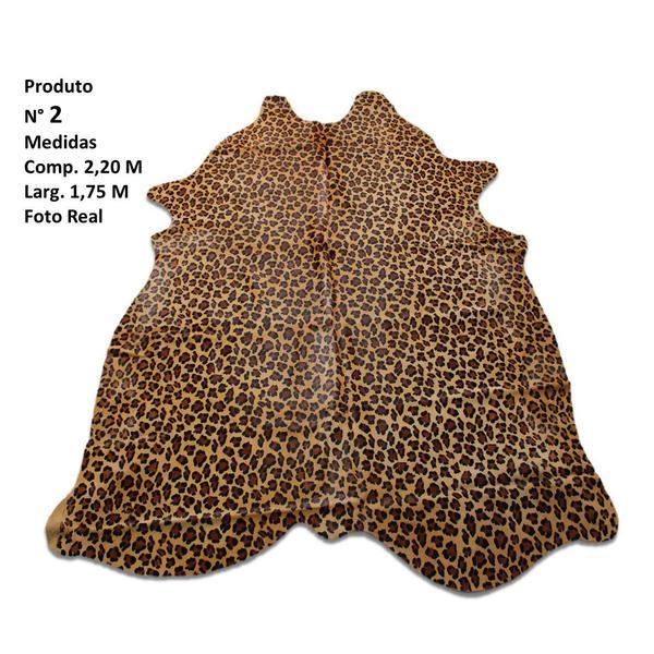 Imagem de Tapete Sala Couro Inteiro Animal Print Leopardo