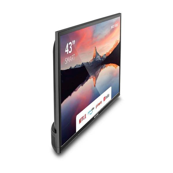 Imagem de Tela Smart 43 Pol Full HD Multilaser  Wi-Fi Integrado + Conversor TV  Digital  TL012