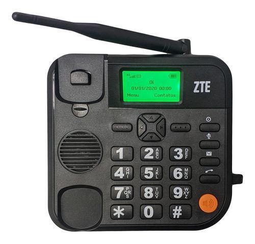 Imagem de Telefone Celular Rural Mesa 3g 5 Bandas Chip Fixo Viva Voz ZTE WP721 ANTENA FIXA