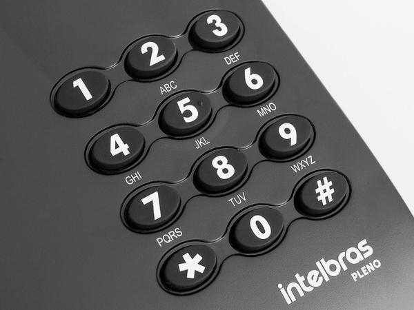 Imagem de Telefone Com Fio Intelbras Pleno - Preto