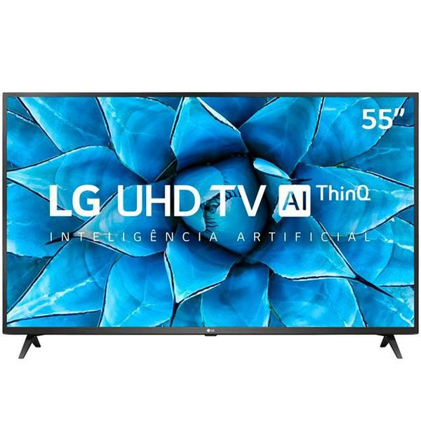 Imagem de TV Smart UHD 4K LED IPS 55 Polegadas LG 55UN7310PSC Wi-Fi - Bluetooth HDR Inteligência Artificial 3 HDMI 2 USB