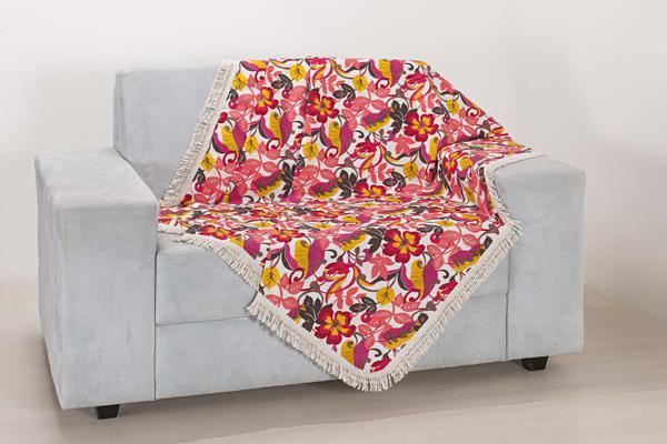 Imagem de Xale de Sofá Decoração Sala Tecido Jacquard 2,90 X 1,50 Estampado
