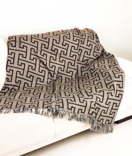 Imagem de Xale Manta Para Sofa Decorativo Com Franja 3 lugares 1,40 x 2,10 Jacquard
