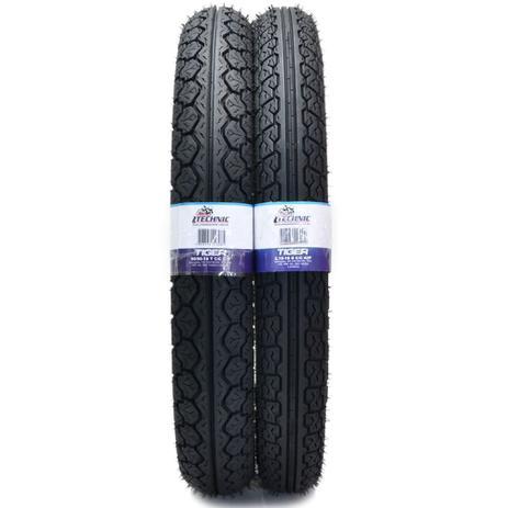 Imagem de 1 par de pneus technic dianteiro e traseiro  motos    honda , cg 125/150/160/ titan fan ybr cbx